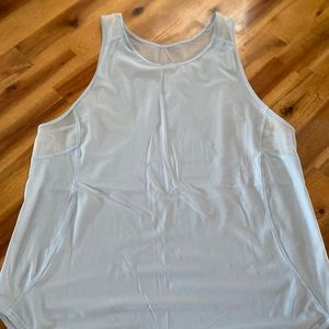 Lululemon running tank, light blue, size 10